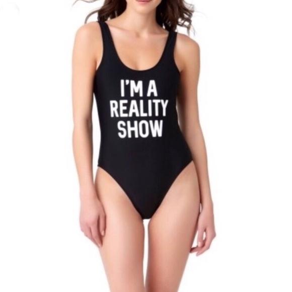 33e775c77eb No Boundaries Swim   Black Im A Reality Show Suit   Poshmark